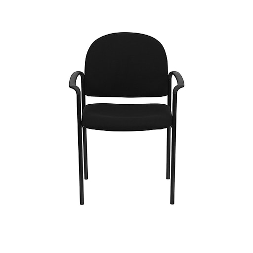 new product 3e6e5 5a014 Flash Furniture Comfort Fabric Reception Chair, Black (BT-516-1-BK-GG)