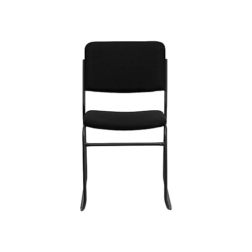 Flash Furniture Hercules Series 1500 Lb Capacity High Density Fabric Stacking Chair With Sled Base Black Staples