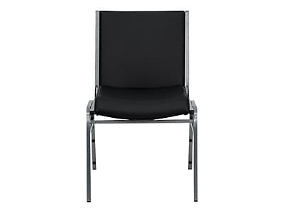 Flash Furniture HERCULES Series Heavy Duty, 3u0027u0027 Thickly Padded, Upholstered  Stack Chair, Black Vinyl | Staples