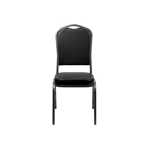 Flash Furniture HERCULES Vinyl Banquet Chair, Black, 10/Pack (FD-C01-SILVERVEIN-BK-VY-GG)