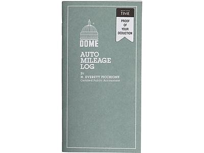 Dome Auto Mileage Log Record Book, Gray (770)