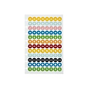 """Staples Arc System Sticker Sheets, 5-1/2"""" x 8-1/2"""", Assorted, 4/Pack (29478)"""