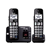 Panasonic KX-TGE232B Single Line Cordless Phone, Black