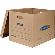 """Bankers Box Smoothmove 22.25"""" x 17.63"""" x 17.38"""" Classic Moving Boxes, Large, 32 ECT, Kraft, 5/Carton (7718201)"""