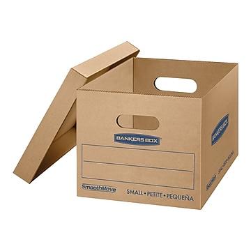 "Bankers Box Smoothmove 16.25"" x 12.5"" x 10.5"" Moving Boxes, Kraft, 10/Carton (7714203)"