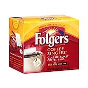 Folgers Coffee Singles Classic Roast Bags, Medium Roast, 19/Box (29764)