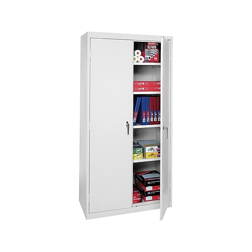 Stupendous Sandusky Lee Steel 72 Storage Cabinets With 4 Shelves Dove Gray Sa42361872 05 Home Interior And Landscaping Ologienasavecom