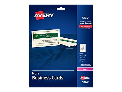 Avery Business Card, 3.5