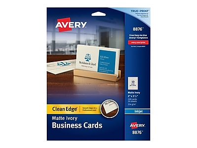 photograph regarding James Avery Printable Coupons named Avery Fresh new Advantage Business office Playing cards, 3.5\