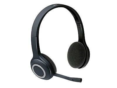 Logitech H600 Wireless Computer Headset, Over-the-Head, Black (981-000341)