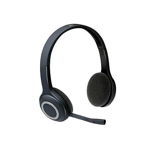 Logitech H600 Wireless Computer Headset Over The Head Black 981 000341