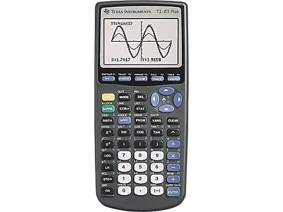 Texas Instruments TI-83 Plus 10-Digit Graphing Calculator, Black
