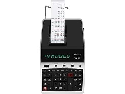 Canon MP27-MG 4642B001 12-Digit Desktop Printing Calculator, Black/Gray