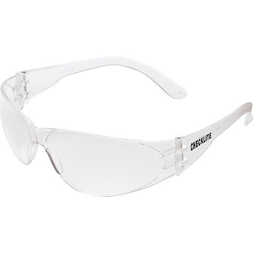 MCR Safety Checklite Polycarbonate Safety Glasses, Clear Lens (CL010)