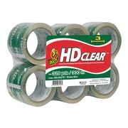 "Duck HD Clear, Acrylic Packing Tape, 3"" x 54.6 yds., 6/Pack (307352)"
