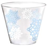 Amscan Snowflake Plastic Tumblers, 9oz, 40 Per Pack (580005)