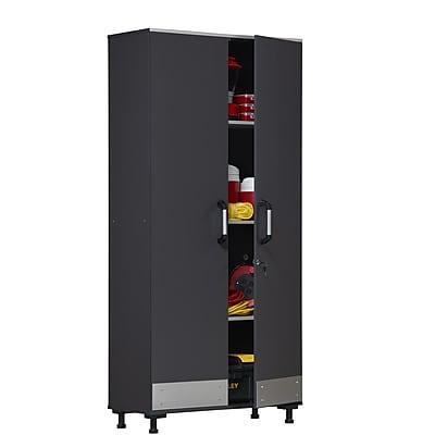 //.staples-3p.com/s7/is/  sc 1 st  Staples & SystemBuild Boss Tall Storage Cabinet Steel Gray (7446059COM) | Staples