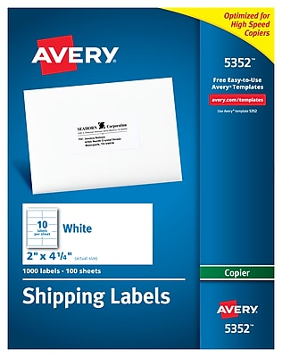 Avery Copier Shipping Labels, 2
