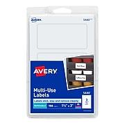 """Avery Laser/Inkjet Multipurpose Labels, 1 1/2"""" x 3"""", White, 3/Sheet, 50 Sheets/Pack (5440)"""