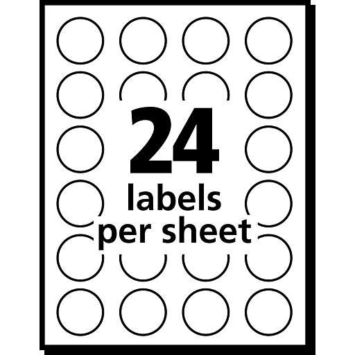 Avery Round 34 Diameter Print And Write Color Coding Labels