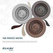 Elkay Residential Drain Fitting, White, Polymer (LKQS35WH)