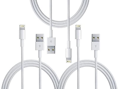 Apple Lightning to USB Cable for iPhone, iPad, iPod, 3 Pack