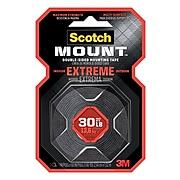 "Scotch® Extreme Mounting Tape, 1"" X 1.66 yds., Black (414P)"
