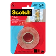 """Scotch® Mounting Tape, 1"""" x 1.66 yds., Clear (410P)"""