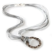 Eyexotic Carla Eyeglass Necklace, Grey, Silver