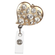 BooJee Dresden Heart Badge Reel, Gold, Silver
