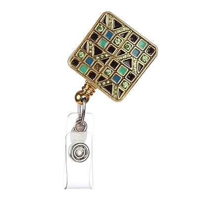 BooJee Clara Badge Reel, Green, Gold, Black