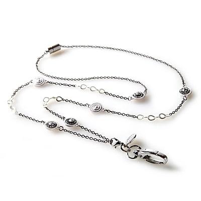 BooJee Pierrot Chain Lanyard, Silver