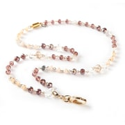 BooJee Delta Beaded Lanyard, Cream, Champagne, Gold