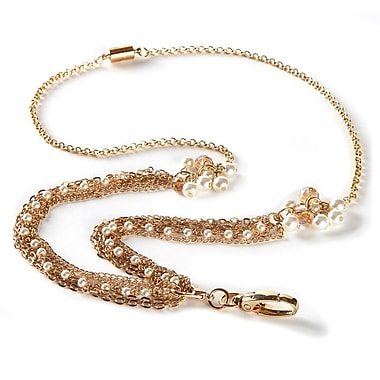 BooJee Catherine Chain Lanyard, Gold, White