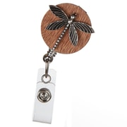 ID Avenue Dragonfly Badge Reel, Brown, Gunmetal
