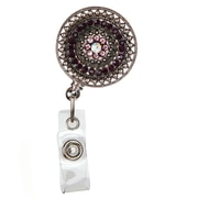 ID Avenue Razzle Dazzle Purple Badge Reel, Silver, Purple