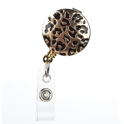 ID Avenue Gia Badge Reel, Gold, Black