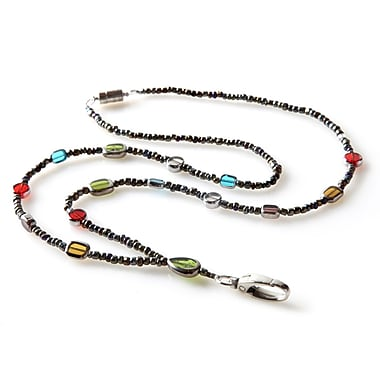 ID Avenue Stained Glass Beaded Lanyard, Green, Blue, Purple, Red