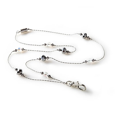 ID Avenue Beverly Hills Beaded Lanyard, Silver