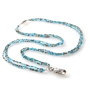 ID Avenue Seaglass Beaded Lanyard, Blue