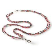 ID Avenue Vivian Beaded Lanyard, Multi Color Jewel Tones