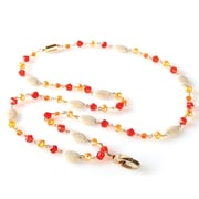 ID Avenue Susan Beaded Lanyard, Orange, Red