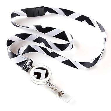 ID Avenue Warhol Ribbon Lanyard, Black, White
