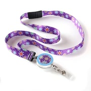 ID Avenue Starflower Ribbon Lanyard, Purple, Blue