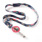 ID Avenue Tapestry Ribbon Lanyard, Navy, Pink, Blue, Yellow
