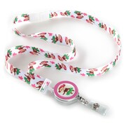 ID Avenue Hula Monkey Ribbon Lanyard, Pink, White, Green