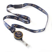 ID Avenue Feathers Ribbon Lanyard, Blue, Gold