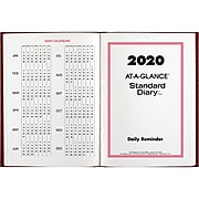 "2020 AT-A-GLANCE 5 3/4"" x 8 1/4"" Standard Daily Diary, Red (SD389-13-20)"