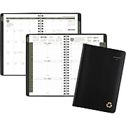 """2020 AT-A-GLANCE  5"""" x 8"""" Recycled Weekly/Monthly Appointment Book, 12 Months, January Start, Black (70-100G-05-20)"""
