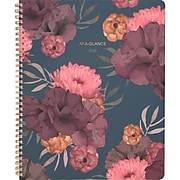 """2020 AT-A-GLANCE 8 1/2"""" x 11"""" Dark Romance Weekly/Monthly Soft Touch Planner (5254-905-20)"""